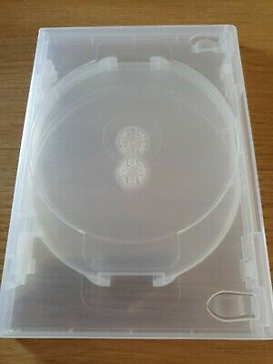£3.99 • Buy Replacement Clear Empty DVD Cover - Holds 5 Disc CD Storage Case 14mm Spine