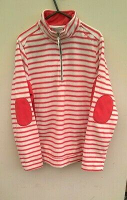 £12.99 • Buy Craghoppers Womens White And Peach Stripped  Fleece Jacket  Size 14