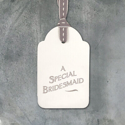 £1.25 • Buy East Of India - Special Bridesmaid Cardboard Gift Tag - Sold For Hospice