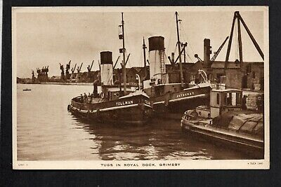 £6.50 • Buy Grimsby - Tugs In The Royal Dock - Printed Postcard