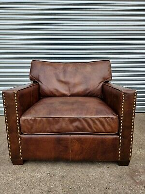 £499 • Buy Superb Timothy Oulton Halo Viscount Leather Armchair