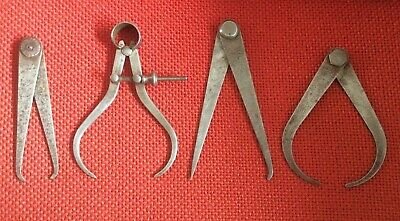 """£16.99 • Buy Vintage Moore & Wright 5"""" Outside Sprung Leg Calipers + 3 Others Odd Leg Etc"""