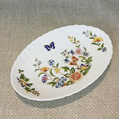 £22 • Buy Aynsley Cottage Garden Oval Plate Dish Floral Butterflies English China