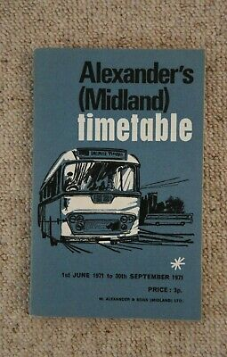 £9.95 • Buy 1971 W Alexander & Sons Midland (Scottish) Timetable Book (with Map) - VGC