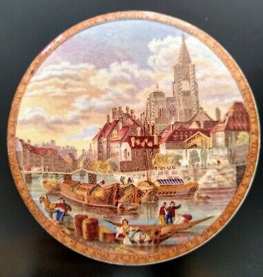 £24 • Buy Collectable Victorian Prattware Pot Lid With A Base Strasbourg Prise Port