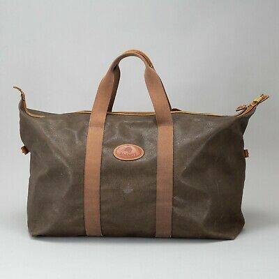 £565 • Buy Robust Large Mulberry Scotchgrain Brown Grey Leather Weekend Duffle Explore Bag