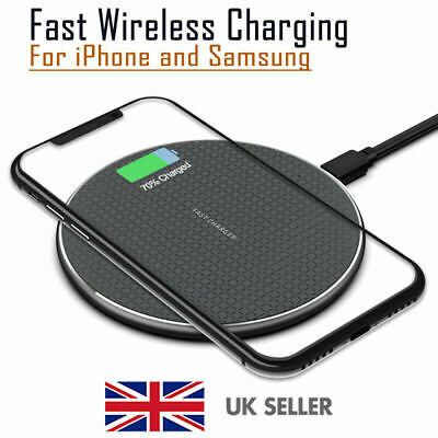 £5.18 • Buy QI Fast Wireless Charger Charging Pad Dock For IPhone Android Samsung Cell Phone