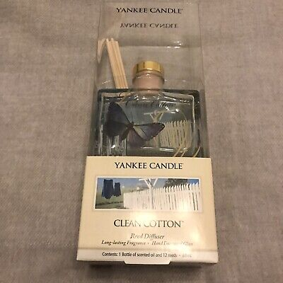 £18.99 • Buy Yankee Candle Rare VHTF 2009 Clean Cotton 88ml Reed Diffuser Butterfly Design
