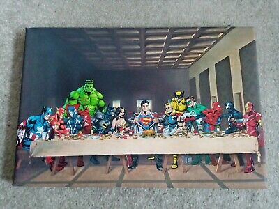 £15 • Buy *NEW* DC And Marvel Print Canvas - The Last Supper RARE