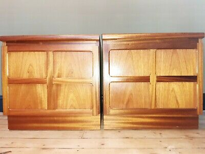 £335 • Buy PAIR Of Retro NATHAN Bedside Tables Teak FREE DELIVERY - Please Read Description