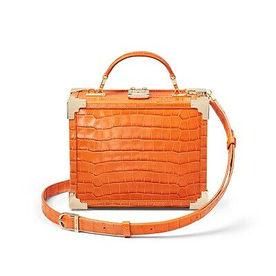 £220 • Buy Stunning Aspinal Trunk Bag In Marmalade Rrp £495.00 Brand New
