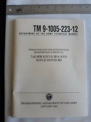 $2 • Buy M14 Rifle Manual Us Government Issue