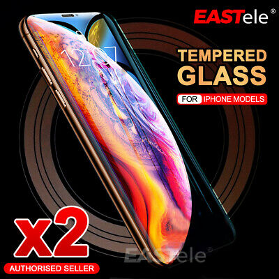 AU4.99 • Buy 2X Tempered Glass Screen Protector For IPhone 11 12 Pro Max 6 7 8 PLUS X XR XS