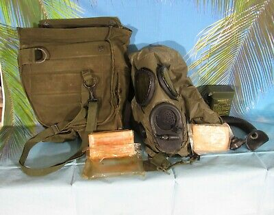 $75 • Buy US M-17 Gas Mask W/ Chem Hood M-13 Decon Kit And Other Items