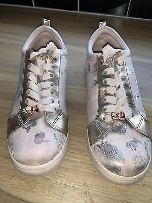 £17.50 • Buy Ted Baker Trainers Size 5 EU 38 Pink Rise Gold Floral