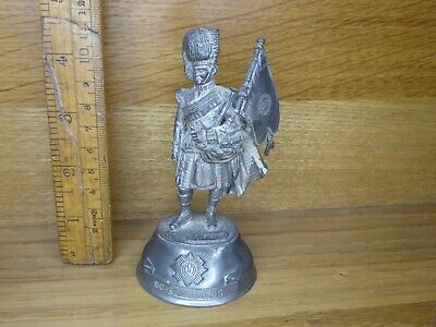 £16.99 • Buy  Chas. C. Stadden Pewter Figure  - Napoleonic Era Scots Guards Piper With Flag