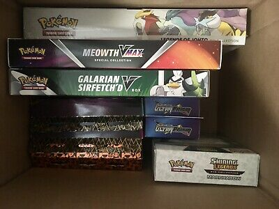 $399.94 • Buy Pokemon TCG Booster Box Collection Lot. Factory Sealed. Evolutions Ultra Prism