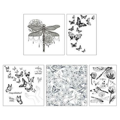 £2.68 • Buy Dragonfly Butterfly Transparent Silicone Stamp For DIY Scrapbooking  Card Making