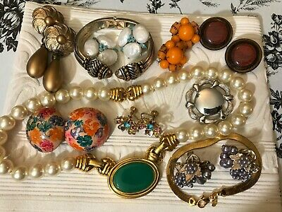 $ CDN41.02 • Buy Vintage Jewelry Lot Including Signed And Unsigned Lot S
