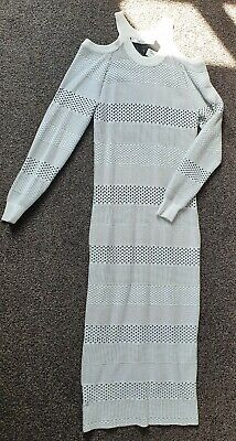 £10 • Buy Guess Bodycon Cold Shoulder Dress L (UK12) Black And White BNWT