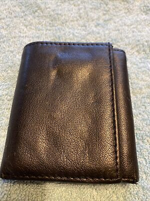$ CDN7.31 • Buy Black Leather Trifold Wallet Unbranded