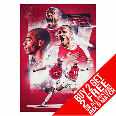 £6.99 • Buy Thierry Henry Bb5 Arsenal Poster Art Print A4 A3 Size Buy 2 Get Any 2 Free