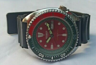 $ CDN6.70 • Buy Seiko Diver 150m Automatic Day/date Red Color Dial Men's Working Wrist Watch