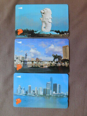 £0.86 • Buy 3 Magnetic Cards Used Singapore  -  8SIGA/D/F