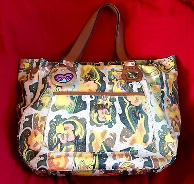 £7.95 • Buy Oilily Yellow & Multi Patterned Large Summer 2 Handled Tote Bag. Good Condition.