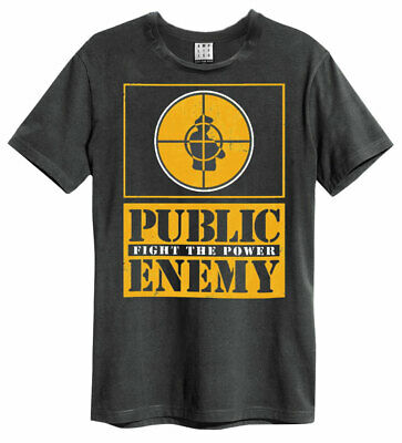 £18.99 • Buy Public Enemy 'Yellow Fight The Power' (Charcoal) T-Shirt - Amplified Clothing