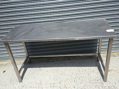 £110 • Buy 150x60cm Stainless Steel Commercial Catering Table Kitchen WorkTop Prep Table