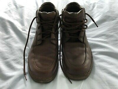 £3.50 • Buy Rockport Ankle Boots Size UK 6.5  US 7W Men's Brown Leather Lace Up MJ221