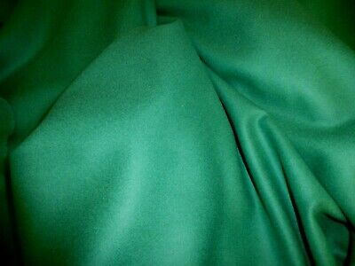 £5.99 • Buy Gorgeous 100% Boiled Wool Fabric Remnant Colour Emerald