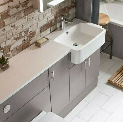 £96 • Buy NEW Designer R2 Isocast Left Side Basin 1500 Mm With Prolonged Top. RRP 424£.