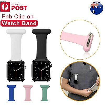 AU10.37 • Buy For Apple Watch Fob Clip-On Strap Band Nurse Watch Midwives Doctors 38/40 42/44