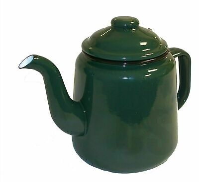 £18.49 • Buy Falcon Enamel Teapot 14cm 1.5L With Handle & Lid Traditional Camping Green