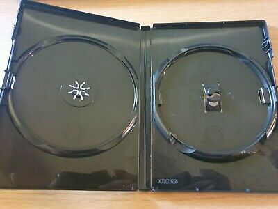 £1.99 • Buy Black Replacement Empty DVD Cover - Holds 2 Disc CD Storage Case 14mm Spine
