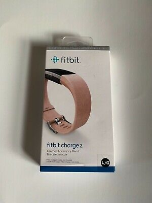 $ CDN44.81 • Buy FITBIT CHARGE 2, Large, Leather Accessory Band, Blush Pink, Good Gift