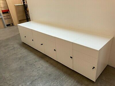 £36 • Buy  WHITE, MOBILE, UNDER DESK FILING PEDESTAL DRAWERS. A4 & FOOLSCAP, 14 Available
