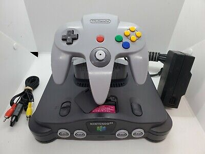 $ CDN129.43 • Buy Nintendo 64 N64 OEM Console Complete With Controller Tested All Cords