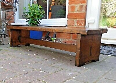 £185 • Buy Rustic Antique Pine Church Pew Kneeler~footstool~long Joint Stool Or Bench