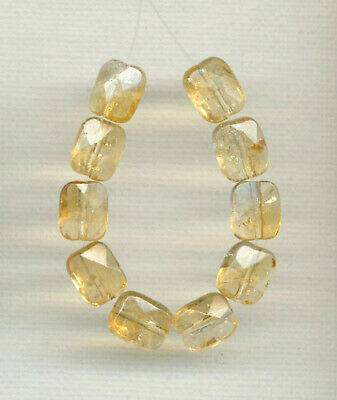 $7.40 • Buy FACETED CITRINE 8x10MM PILLOW BEADS - 3.75  Strand - 9900