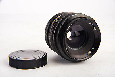 $39.99 • Buy Vintage Photax 35mm F/3.5 Wide Angle Prime Lens With Cap For M42 Screw Mount V17