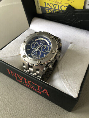 £295 • Buy Invicta Mens Reserve Speciality Swiss Made Chronograph Blue Dial Bracelet Watch