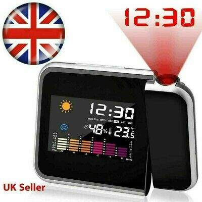 £9.69 • Buy Lcd Digital Projection Alarm Clock Thermometer Whether Calendar Wall Projector