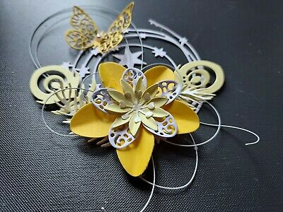 £1.45 • Buy 3d Flower, Butterfly And Wire Card Craft Topper  B