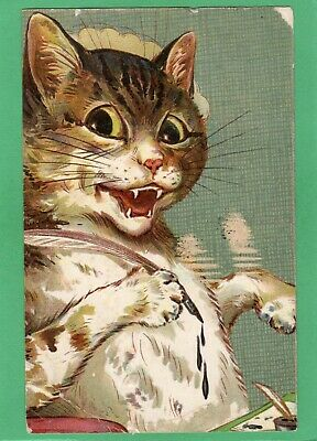 £5 • Buy Cat Louis Wain Unsigned ? Pc 1905 Ernest Nister AK185