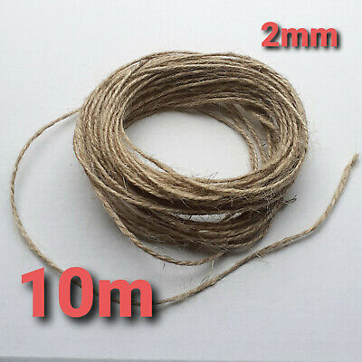 £2.49 • Buy 10m 2 Ply Natural Brown Soft Jute Twine Sisal String Rustic Cord Shabby