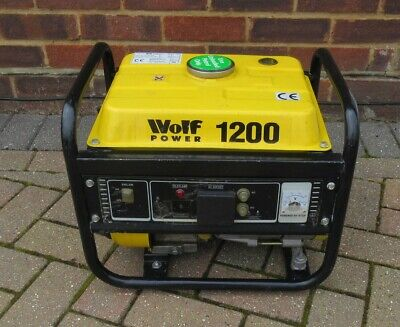 £50 • Buy Wolf Power 1200 W Portable Petrol Generator For Spares Or Repair - Collection