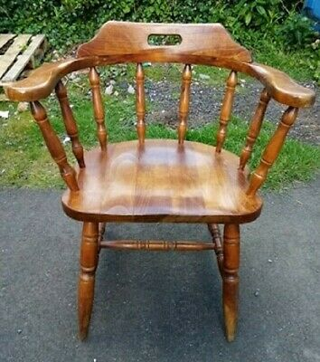 £15 • Buy Vintage Wooden Captains Chair,Elbow Chair Good Condition